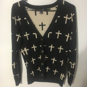 Forever 21 cardigan with crosses